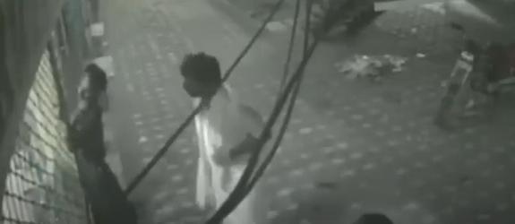 Man getting an electric shock