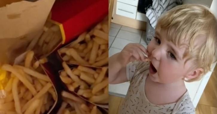Fries order placed by Harry