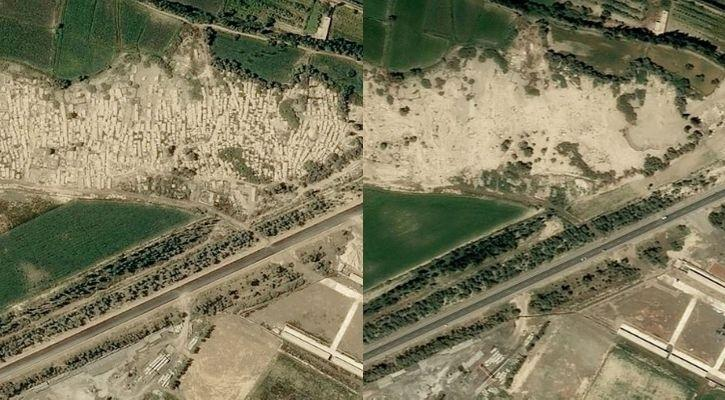 Graves in China destroyed