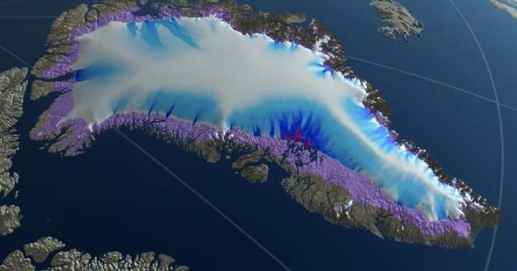 greenland ice melt glacier global warming
