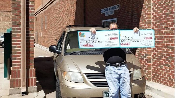 Joe with lottery tickets