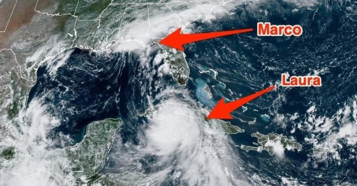 Storm Marco and Laura