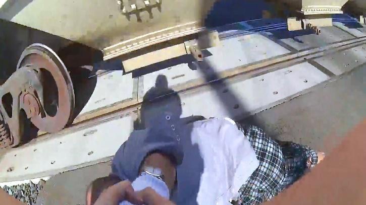 officer saves man
