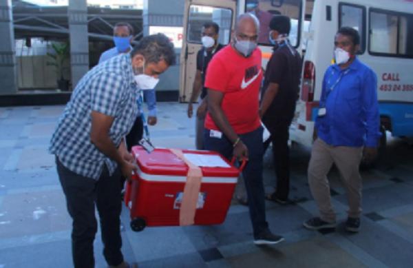 Organs transported
