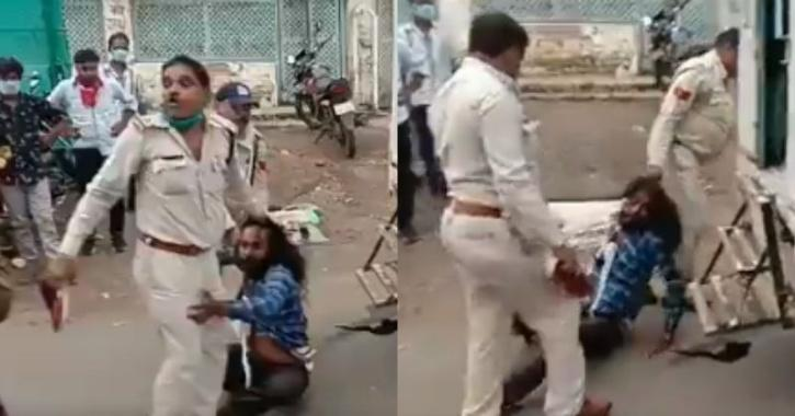 Police pulling Sikh man by hair