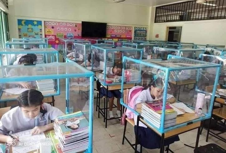 Social distancing in Thailand schools