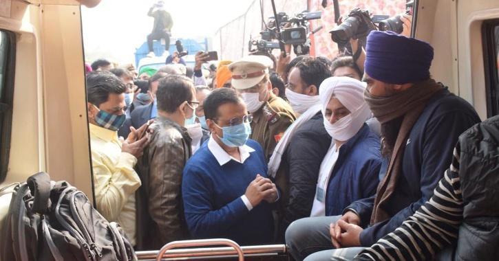 Kejriwal farmers protest house arrest