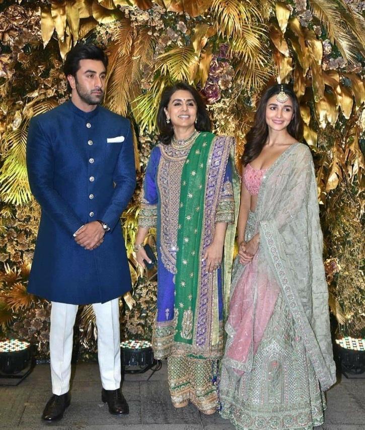 Ranbir Kapoor and Alia Bhatt with Neetu Kapoor / Agencies