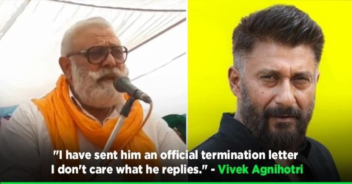Vivek Agnihotri Kicks Out Yograj Singh From His Film Post His Controversial Speech On Farmers