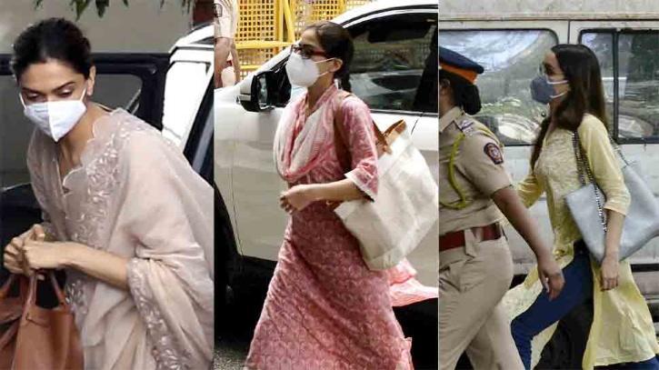Deepika Padukone, Shraddha Kapoor and Sara Ali Khan at NCB / Indiatimes