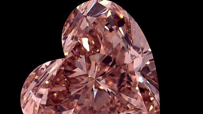 Australian Mining Company Unveils Rare, Pink Diamond Carved From 46-carat