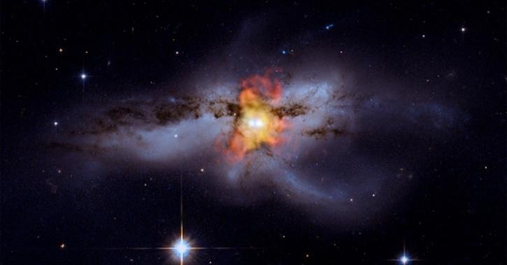 NASA Captures Supermassive Black Holes Merging In A Stunning Celestial Image