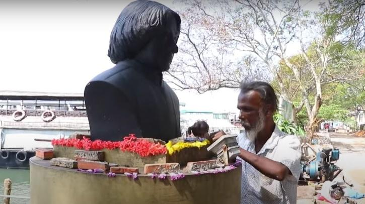 APJ Abdul Kalam, APJ Abdul Kalam Statue, APJ Abdul Kalam Statue Marine Drive, Shivadasan, Shivadasan Kalam