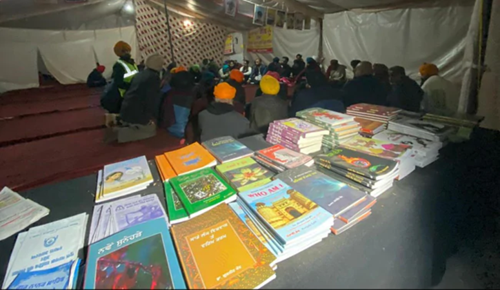 Farmers Protest, Farmers Protest Library, Farmers Protest Books, Farmers Protest  Bhagat Singh, Singhu border
