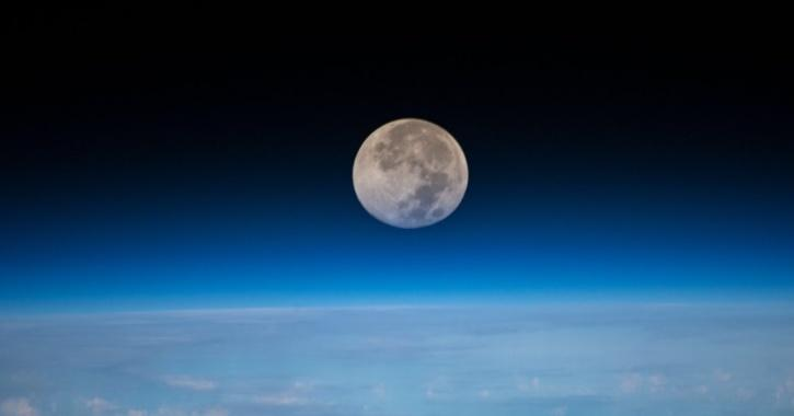 Full moon captured from international space station