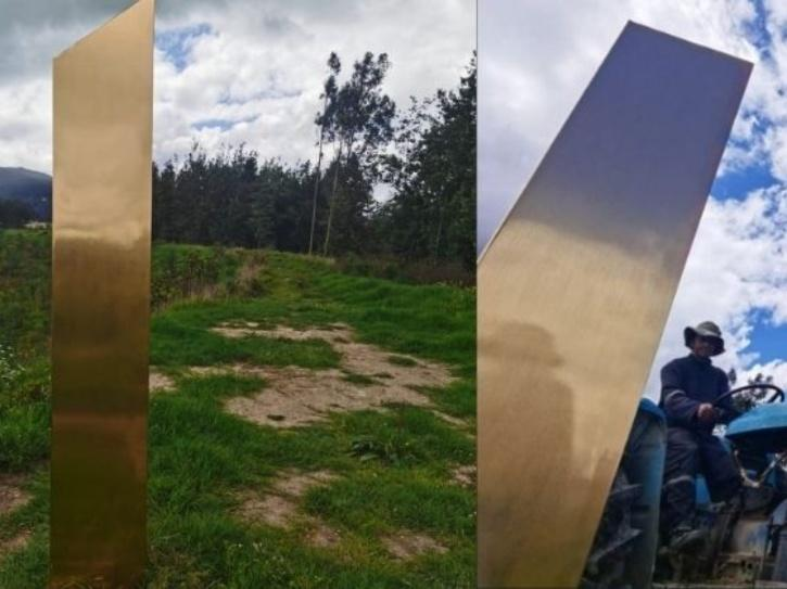 he monolith was spotted on Saturday in Chia in the Colombian department of Cundinamarca.