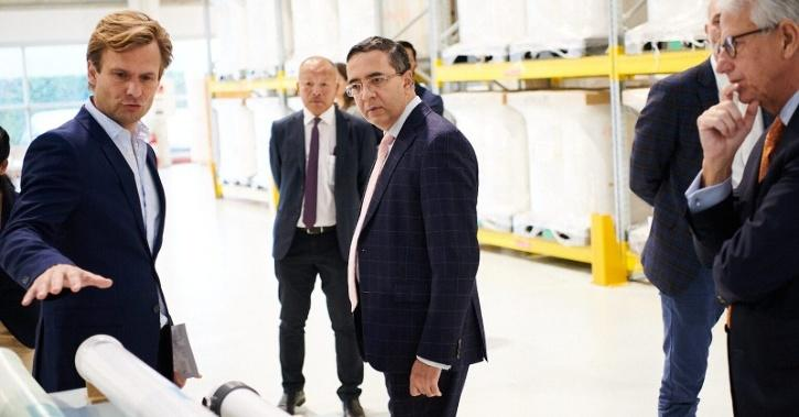 indian ambassador visit Aquaporin facility in Denmark