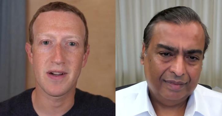 mark zuckerberg mukesh ambani facebook fuel for india