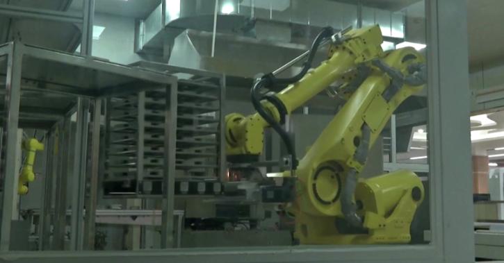 robot chef in shanghai school canteen