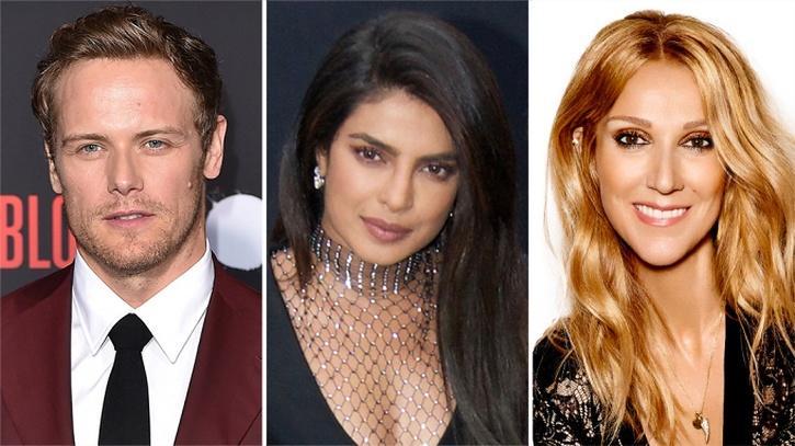 Sam Heughan, Priyanka Chopra and Celine Dion / Indiatimes