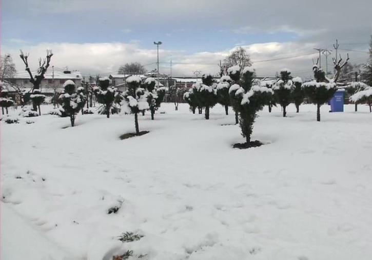 Seasons first snowfall in Jammu & Kashmir