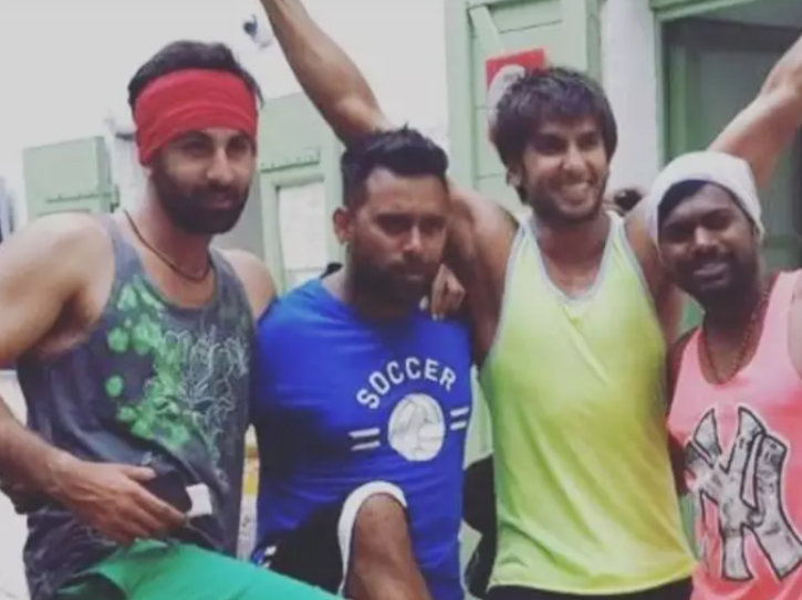 during the shooting of Tamasha, Ranveer hung out with Ranbir in Corsica where he went to meet his ladylove.