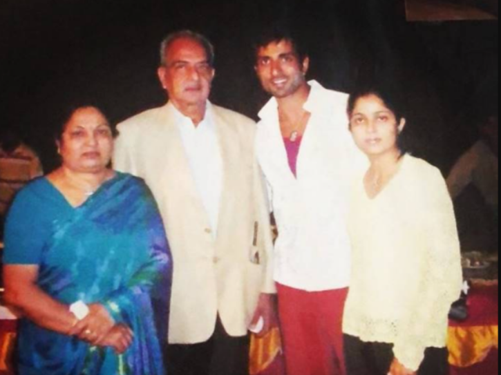 Sonu Sood with his family.
