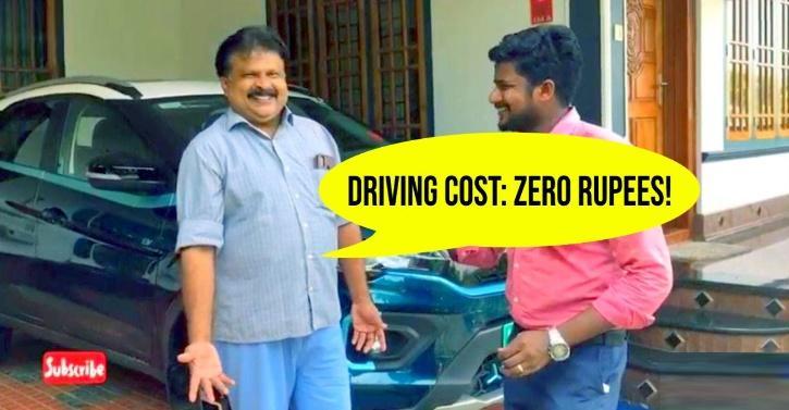 Tata Nexon EV owner uses solar power to recharge vehicle