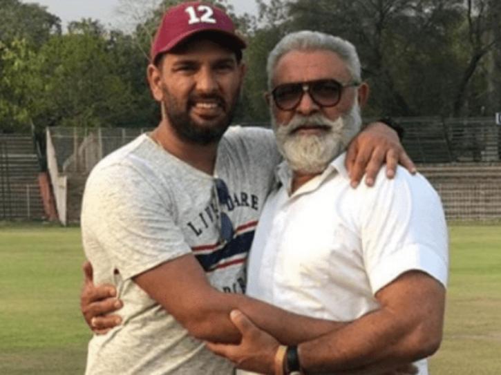 Yograj Singh with son Yuvraj Singh.