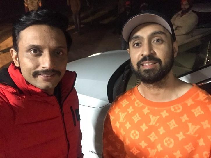 Zeeshan Ayyub with Diljit Dosanjh.