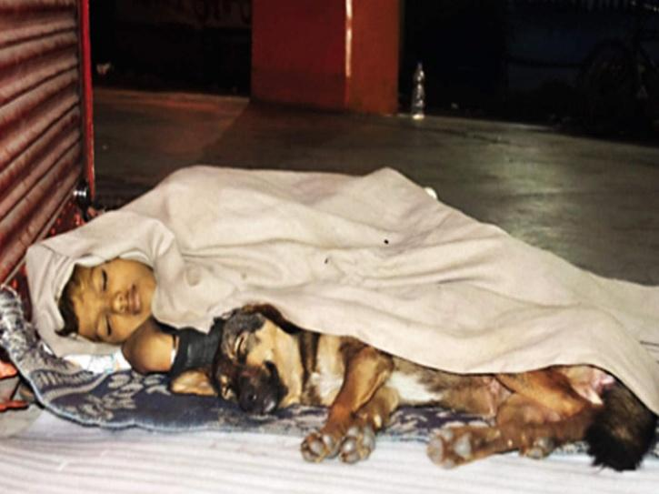 He sleeps on footpaths with his only friend, Danny, a dog, who stays with him always. Life had been like this for Ankit for the last several years.