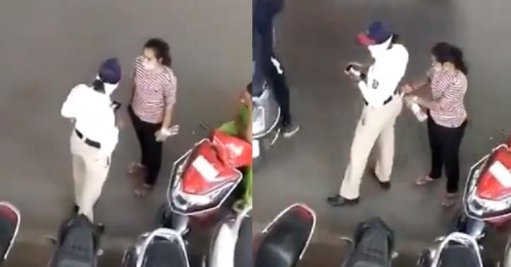 Traffic cop allegedly seen accepting bribe on camera