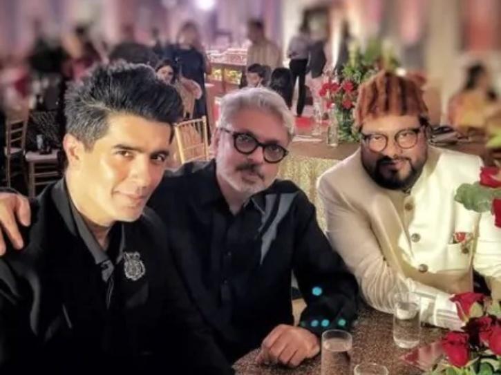 Sanjay Leela Bhansali and Manish Malhotra at Gauahar Khan and Zaid Darbar