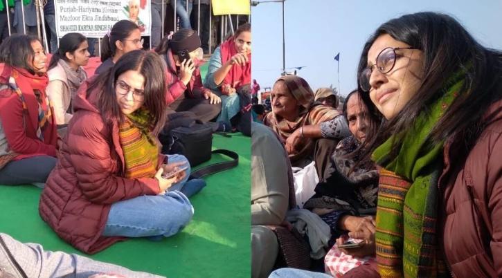 Swara Bhasker at Farmers Protest / Swara Bhasker Twitter