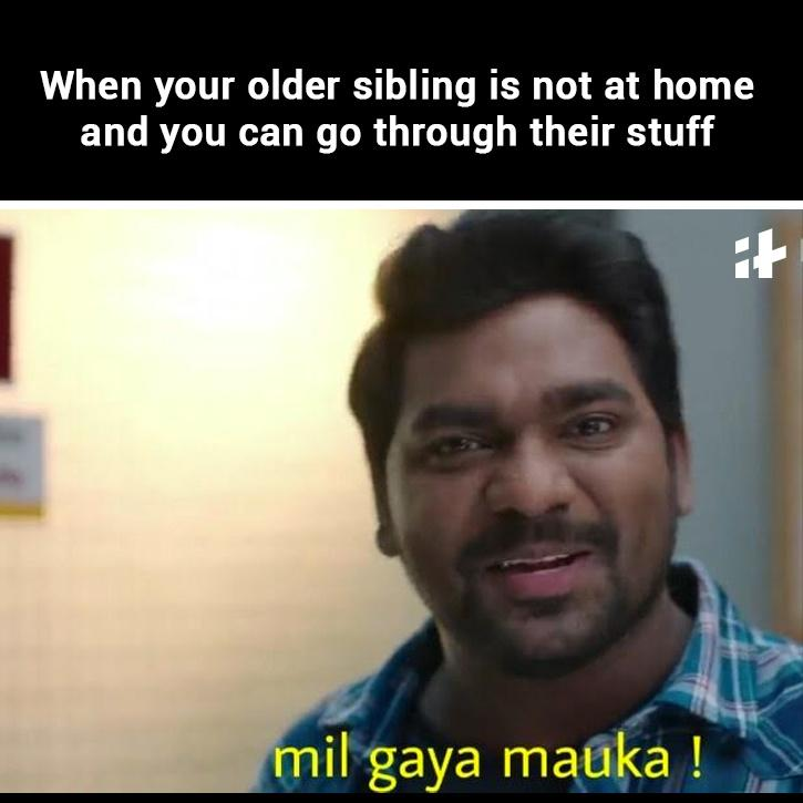 younger sibling memes