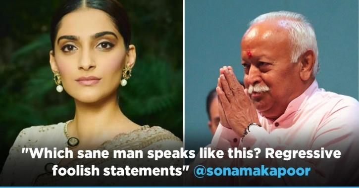 RSS Chief Mohan Bhagwat Slammed By Sonam Kapoor For His