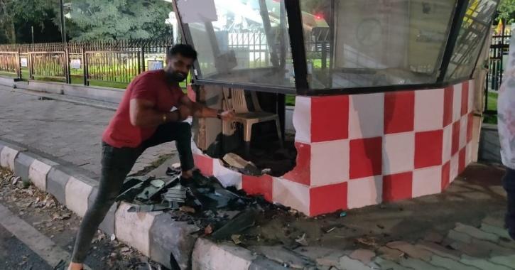 Sunny Sabharwal, crashed police kiosk