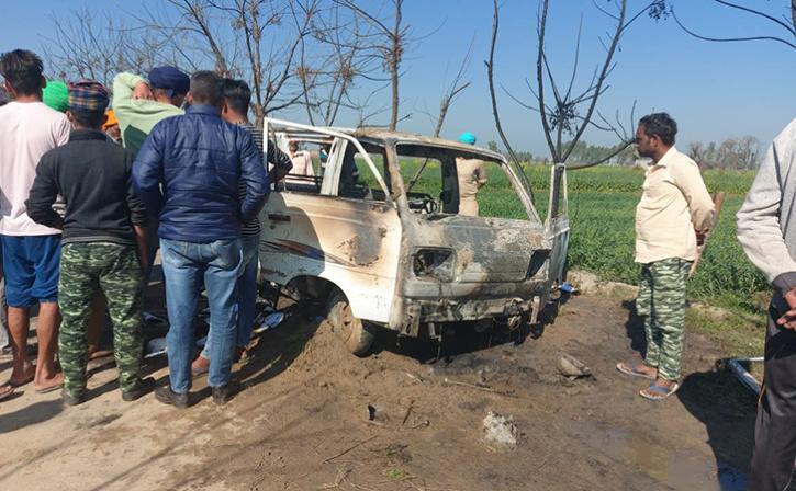 School Van Catches Fire In Punjab; Four Minor Dead