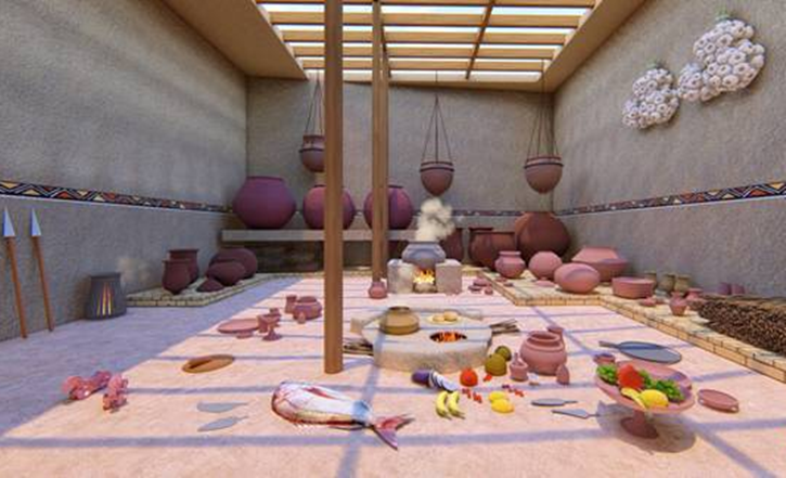 National Museum, New Delhi, India's ancient food history, Historical Gastronomica – The Indus Dining Experience, Harappan People, Harappan Food