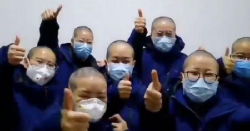 china nurses are shaving their heads to stop coronavirus