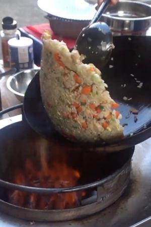 Fried rice wok toss