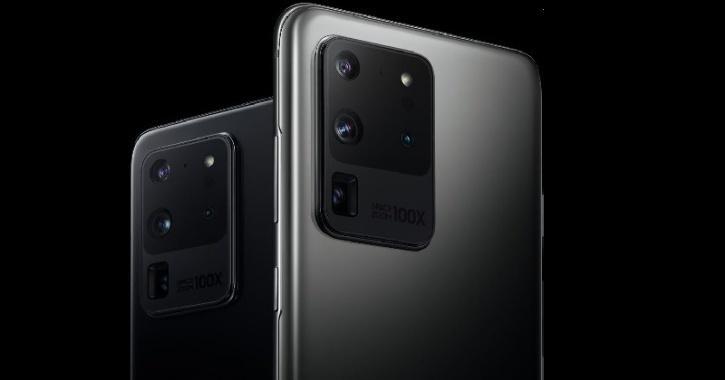 Samsung Galaxy S20 Ultra, camera setup, 100X zoom