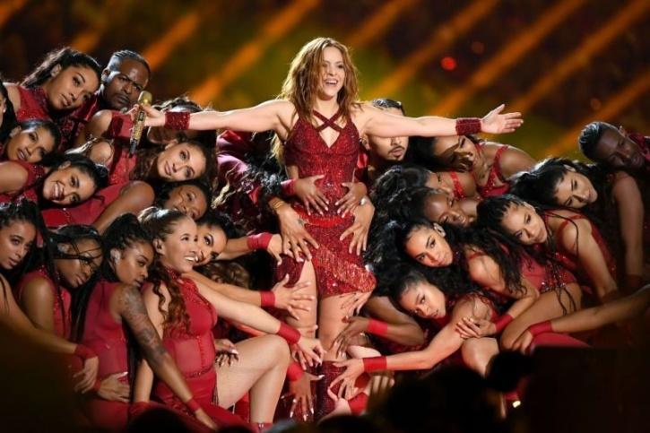 Shakira at Super Bowl halftime show 2020