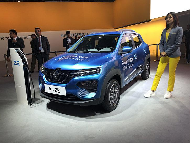 Renault Kwid Electric (K-ZE) On Display at the Auto Expo 2020