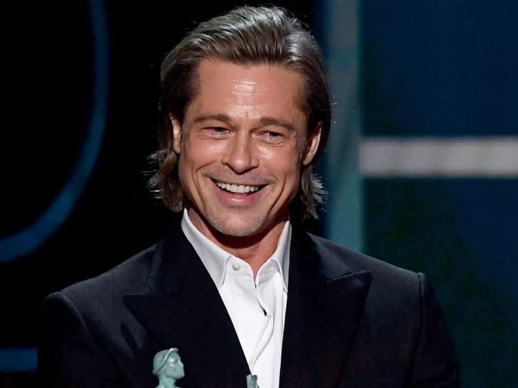 Brad Pitt Tears Up As He Wins His 1st Acting Oscar, Gets A Tight Hug From Leonardo DiCaprio