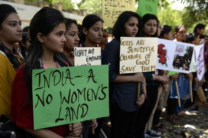 women crime india protest