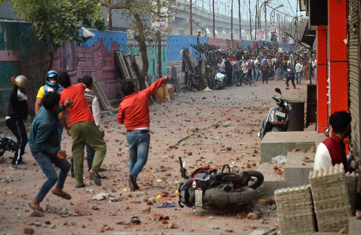 stone pelting protests