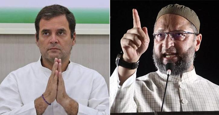 rahul gandhi and Owaisi