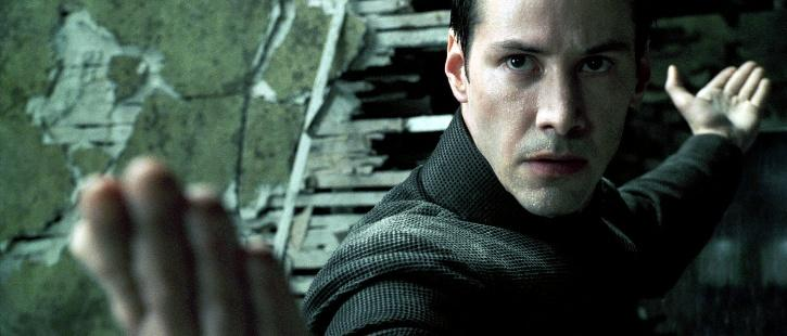 The Matrix Keanu Reeves an action icon.