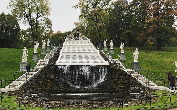 The Chessboard Cascade at Peterhof